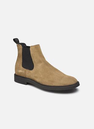 Boots en nubuck beige