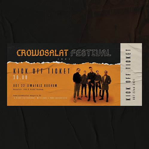CROWDSALAT FESTIVAL 21 - Kick Off - Freitag