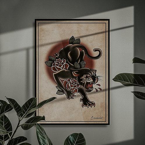 Panther Print - A3