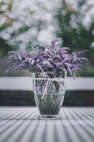 canva-purple-flowers-in-clear-glass-vase