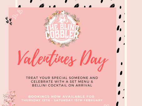 Now Accepting Bookings for Valentines Weekend
