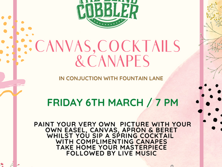 Introducing - Canvas, Cocktails And Canapés