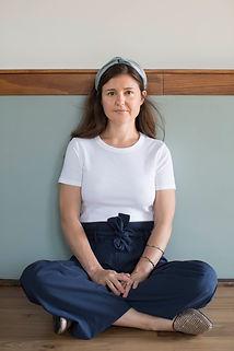 Mary Margaret Skelly sitting