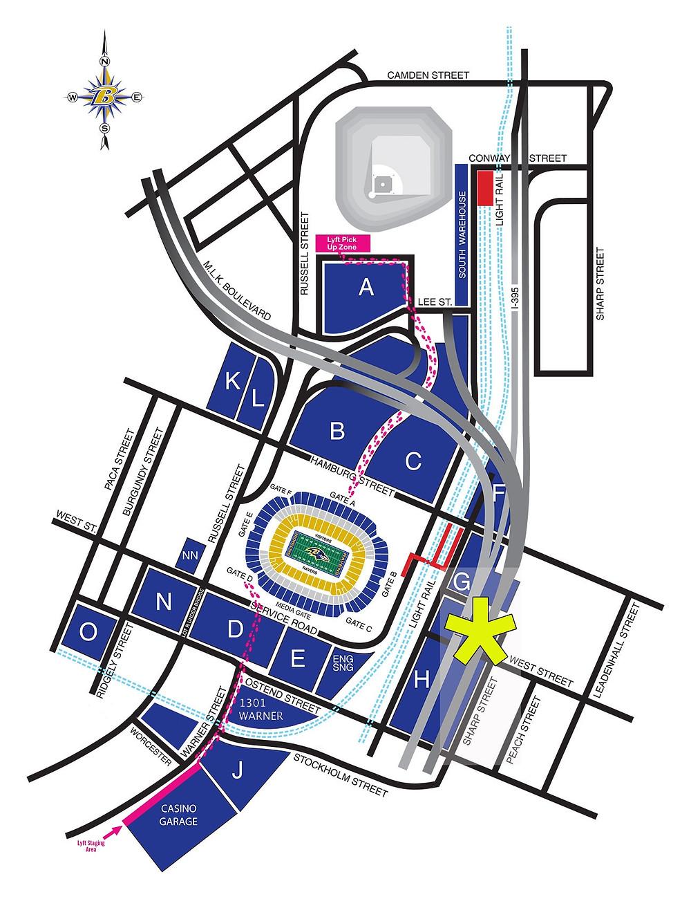 Tailgate Professional M&T Bank Stadium Lot H