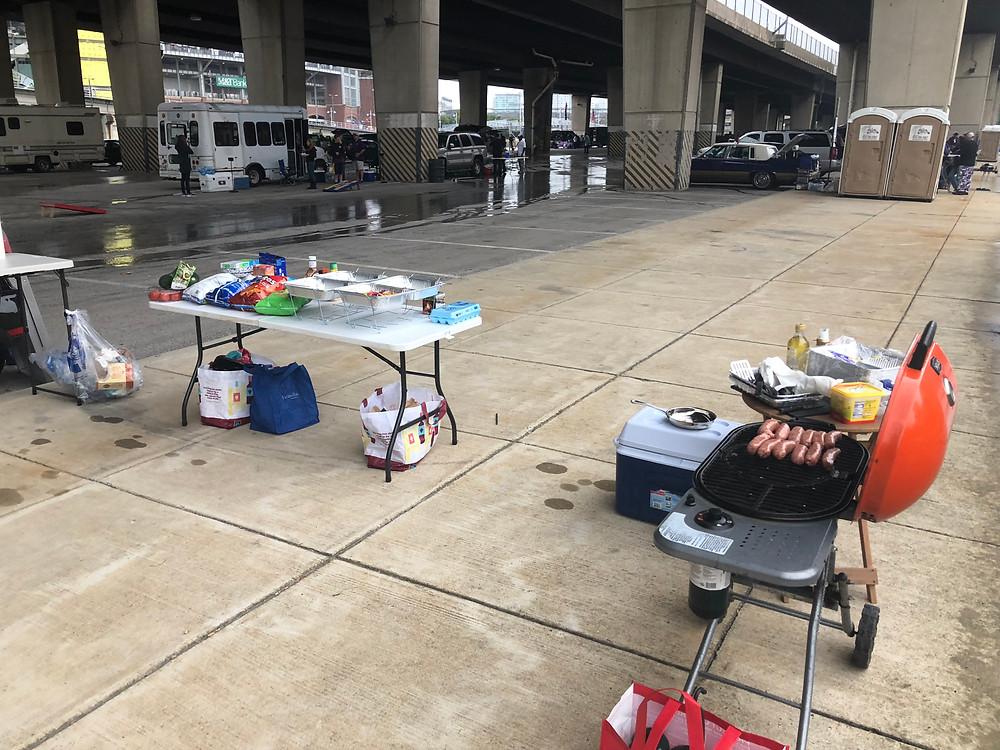 Tailgate Professional Setup Lot H M&T Bank Stadium