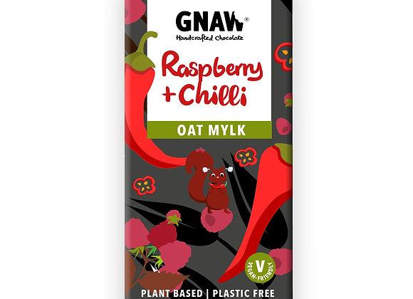 Raspberry & Chilli Oat Mylk Chocolate Bar • Vegan 🌱