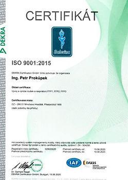 Certifikát DEKRA ISO