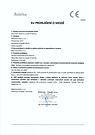 Prohlášení o shodě respirátor Balerina PFHM731