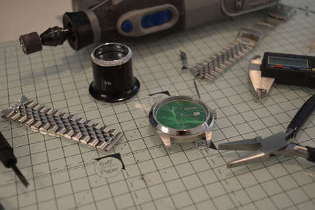 Custom green dial Bespoke watches