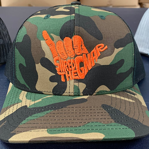 Shred The Gnar Hat -Camo/Orange
