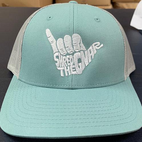 Shred The Gnar Hat - Aqua