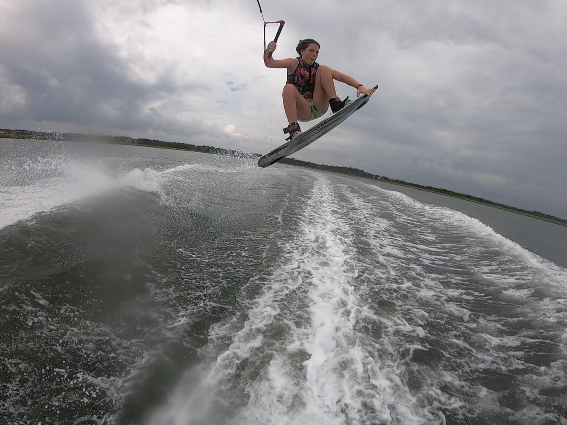 Sarah Wakeboarding Figure 8