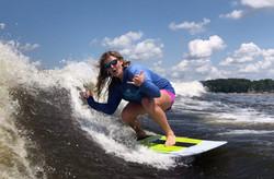 Wakesurfing Kara Austin