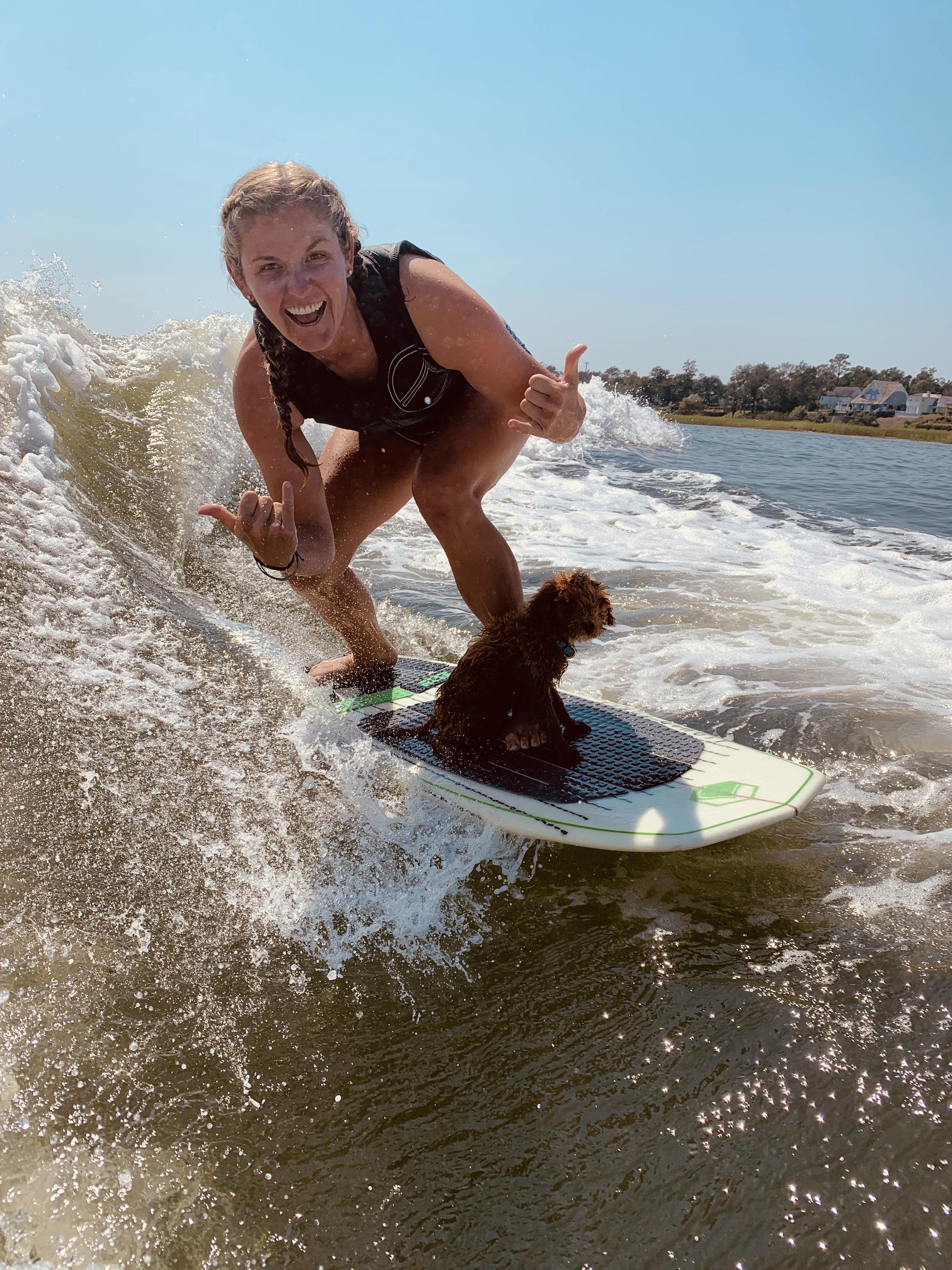 Kara Austin Wakesurfing
