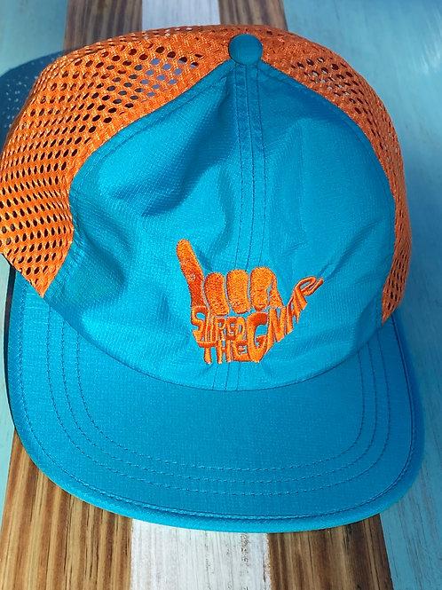 Shred The Gnar Hat -Teal/Orange