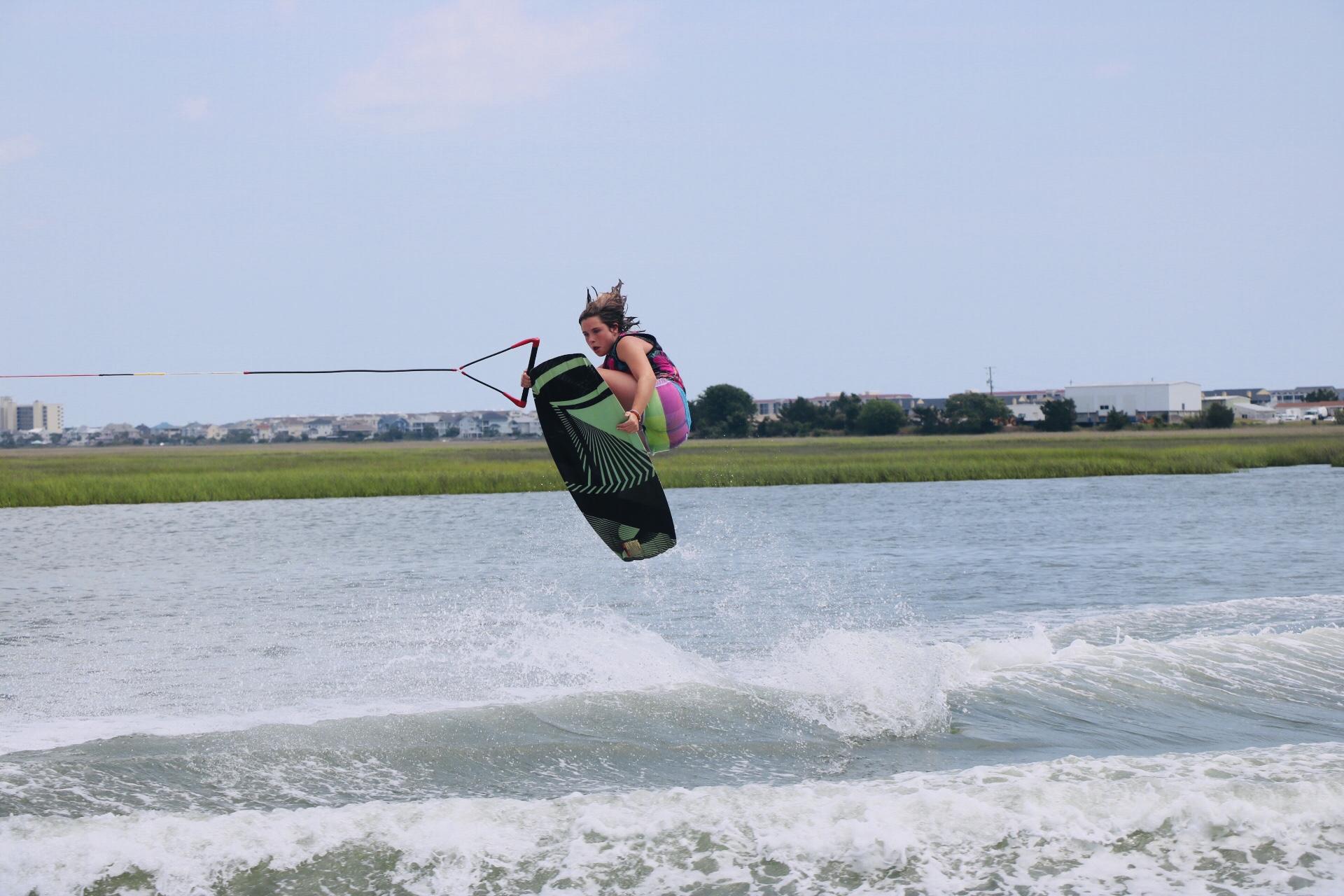 Sarah Wakeboarding Wrightsville Beac