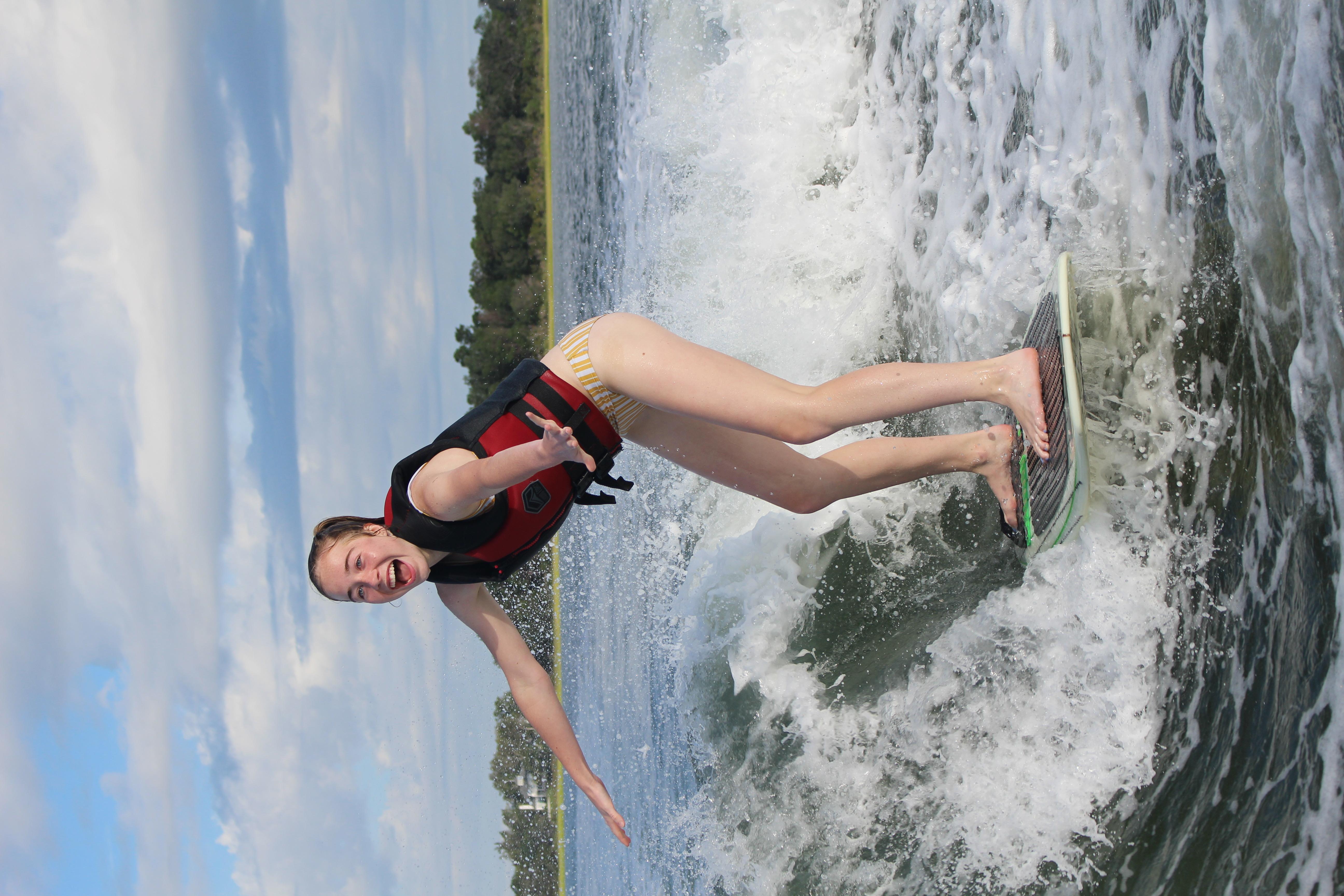 Wakesurfing Wrightsville beach