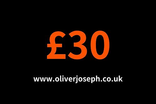 £30 E-GIFT CARD
