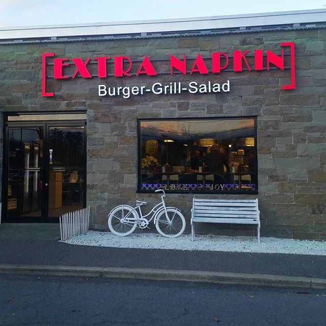 We are open!#albany #delmar#extranapkin #burger #grill #salad