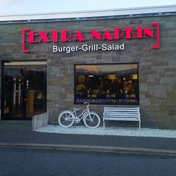 We are open!#albany #delmar#extranapkin #burger #grill #salad
