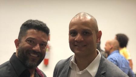 Marcelo Vilela e Ricardo Vilela na solenidade de recebimento do Diploma da Ordem do Mérito do CREF7 - Setembro-2019