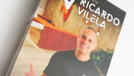 Flyer de inauguração do Estúdio Ricardo Vilela