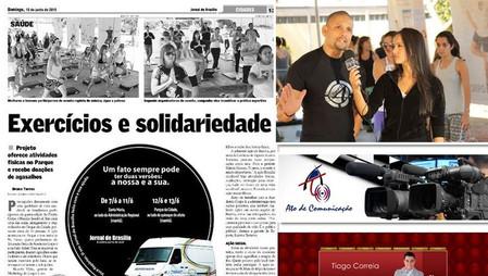 """Prof. Ricardo Vilela sempre engajado em projetos de saúde e solidariedade. Em 2010 tocou o projeto """"Corpo4 Brasília Saudável"""" com eventos de repercussão na mídia local."""