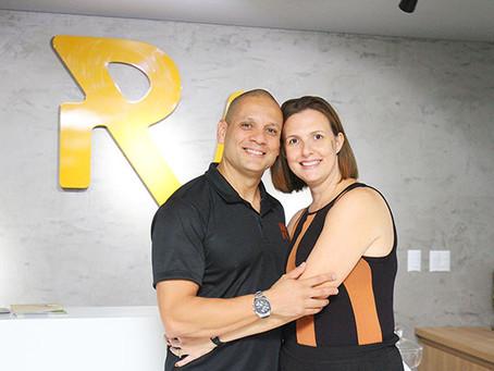 O casal de sócios Ricardo e Lívia Vilela