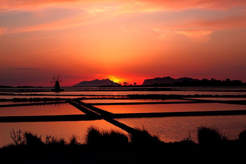 Riserva Naturale dello Stagnone, Dove vedere il tramonto a Marsala