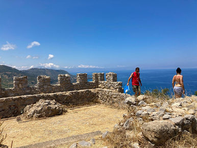 Vista dal Castello di Cefalù, Parco della Rocca