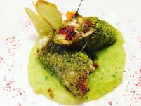 Cannolo di Pesce Spada e pistacchi