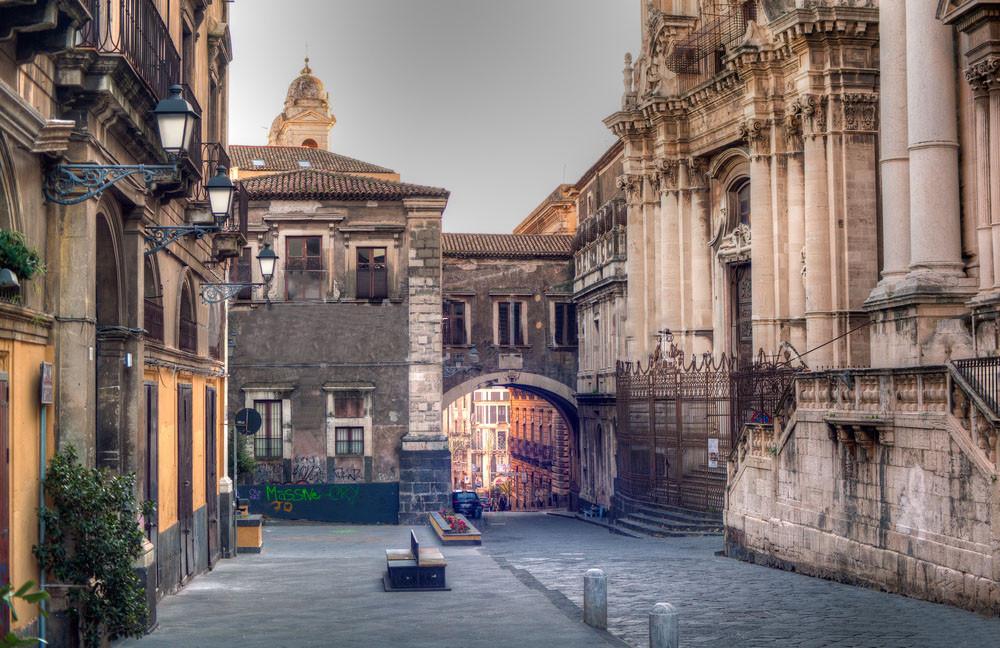 Via Crociferi Catania Patrimonio Unesco