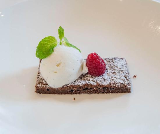 Mousse cioccolato fondente e gelato