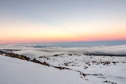 Tramonto sull'Etna, Sicilia in Inverno