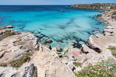 Cala Azzurra, Mare a Favignana