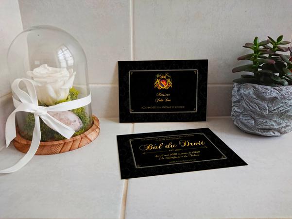 Cartons d'invitation Bal du Droit - 84ème Édition