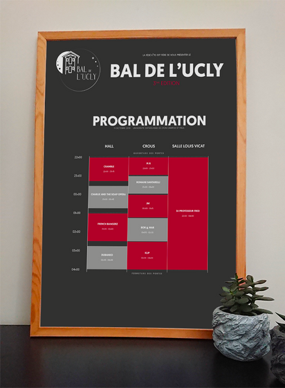 Programmation Bal de l'UCLy - 3ème édition