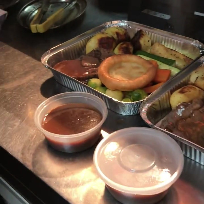 Chefs preparing Sunday Roast at Clifton Hotel Folkestone