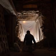 Création d'une porte couverte en anse de panier