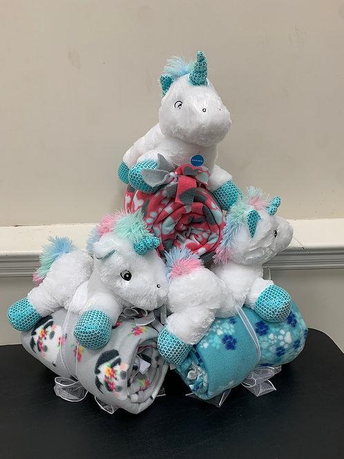 Plush Dog Toy and Blanket - Unicorn