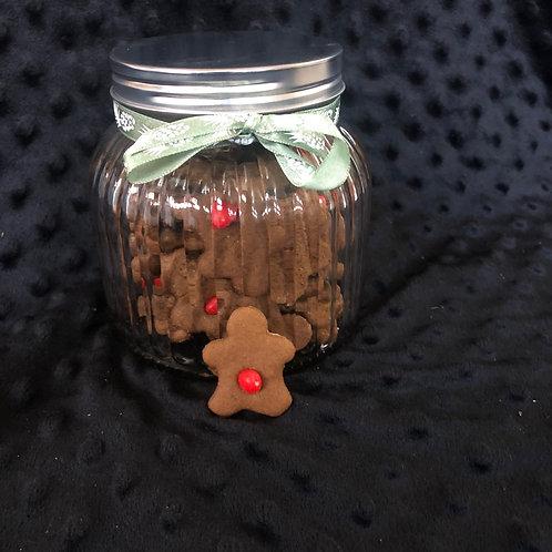 Gingerbread Cookies in a Jar