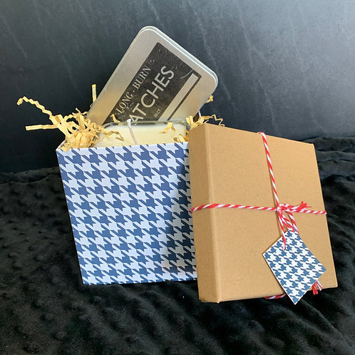 Candle & Matches in a Decorative Box - Gift Set