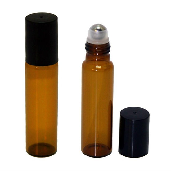 Amber Glass Roll On Bottles 15ml - 25pk