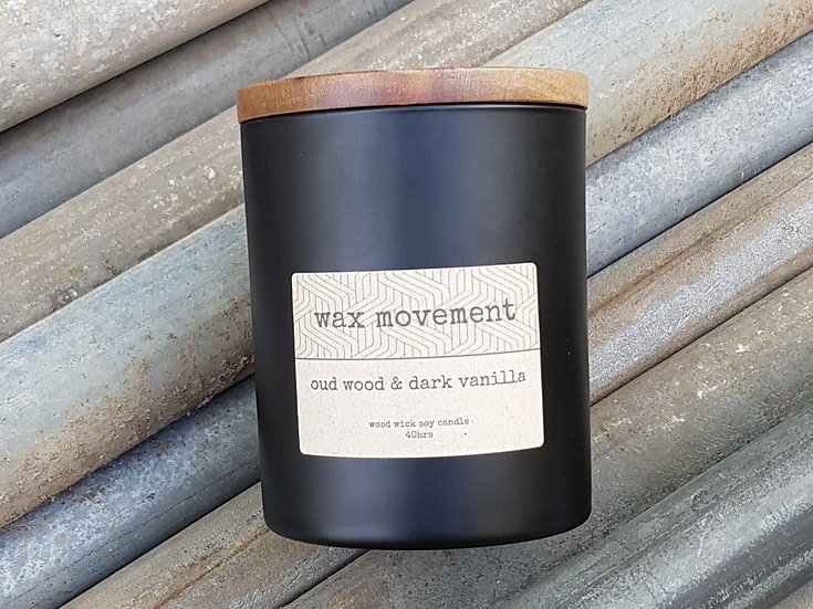 Blackout Wood Wick Candle