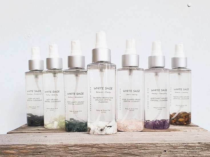 White Sage - Gemstone Infused Smudge Spray 125ml