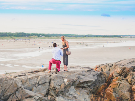 The Marginal Way Surprise Proposal in Ogunquit, ME || Ellen & Eric