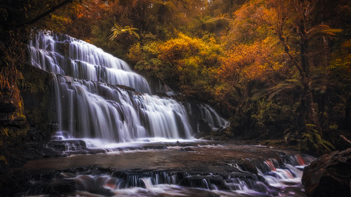 purakaunui-falls-new-zealand