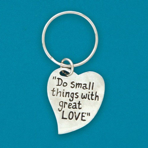 Do Small Things Pewter Keychain