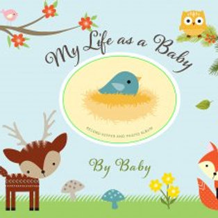 My Life as a Baby Record Keeper & Photo Album-Woodland Friends