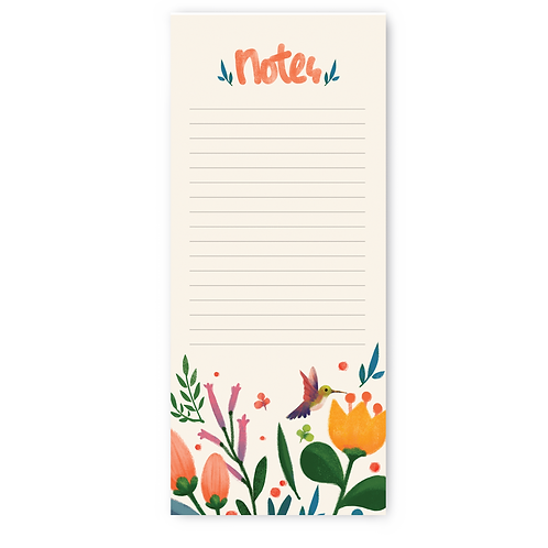 Floral Theme Note Pad
